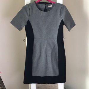 Jcrew grey and black work dress